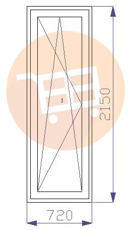 Baltas - Balkona durvis - Kreisās - Nr.15 720x2150