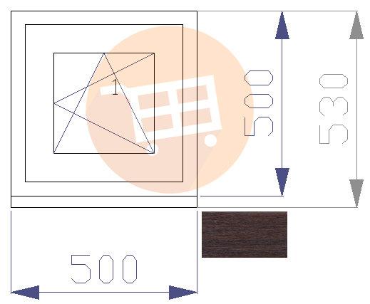 Tumšs ozols / Balts - Verams - Labais Nr.16 500x530
