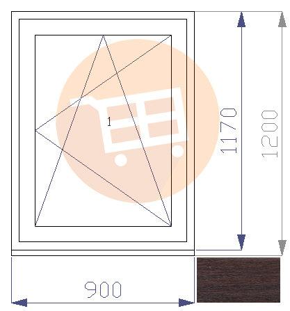 Tumšs ozols / Balts - Verams - Labais Nr.18 900x1200