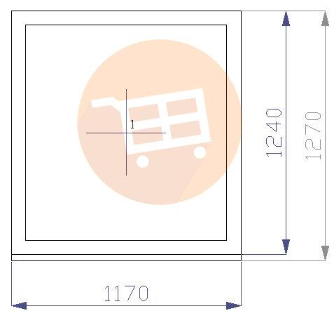 Balts - Neverams - Nr.22 1170x1270 Līvānu māju logs