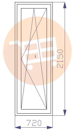 Baltas - Balkona durvis - Labās - Nr.14 720x2150