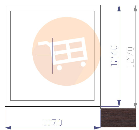 Tumšs ozols / Balts - Neverams - Nr.25 1170x1270 Līvānu māju logs