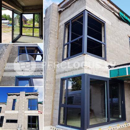 bluEvo 82MD - pasīvo māju logi un HS bīdāmās durvis