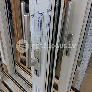 HS paceļami bīdāmo durvju rokturis | Rāmis: koks ar alumīnija uzlikām
