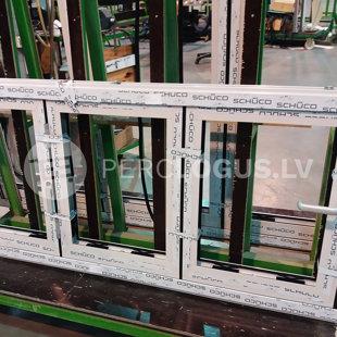 Alumīnija profilu sistēma: Schuco ASS 70 FD | Arī logi var tikt izgatavoti salokāmi.